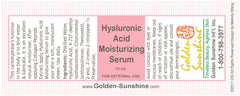 Hyaluronic Acid (HA) Serum - People's Herbs - Golden Sunshine