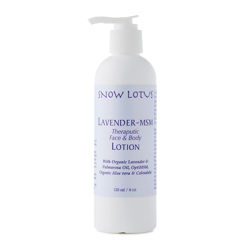 Lavender-MSM Therapeutic Face & Body Lotion - People's Herbs