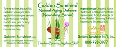 People's Herbs Golden Sunshine Natural Aging Defense (Nourishing Serum)