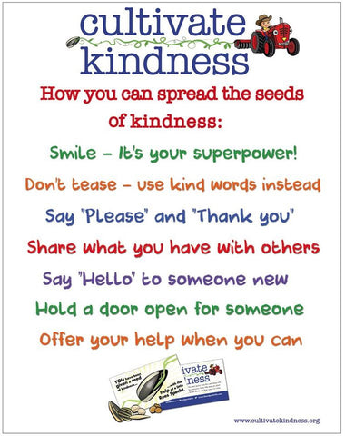 "Cultivate Kindness Poster 22"" x 28"" Poster"