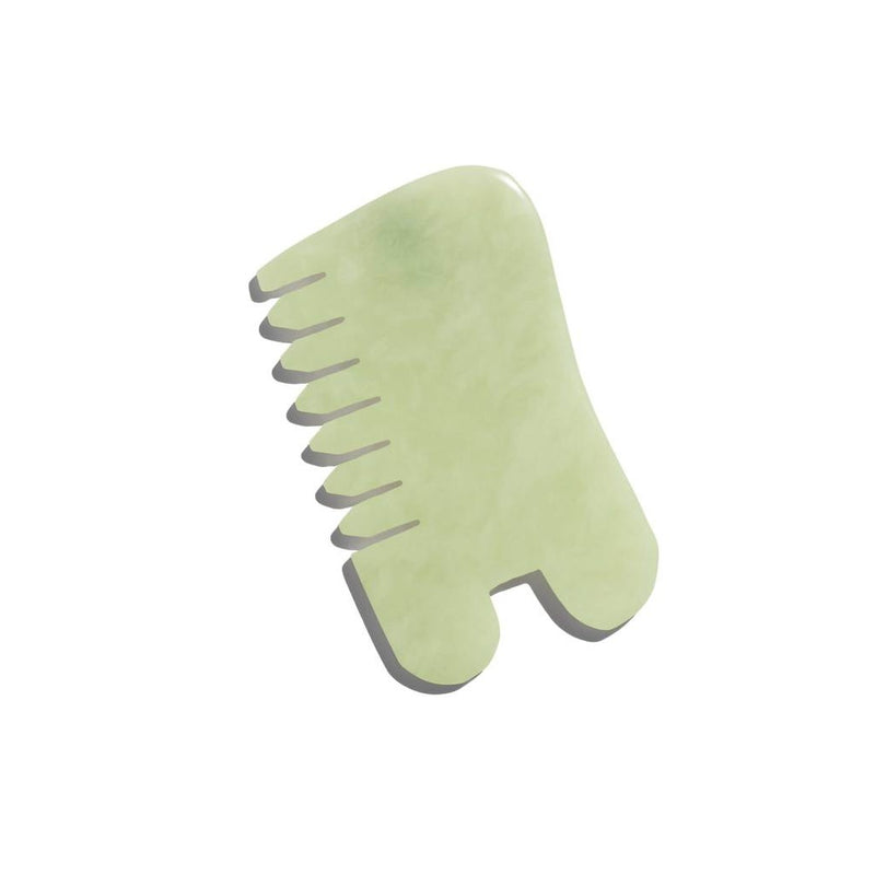 ISLAND JADE Gemstone Gua Sha + Massaging Comb