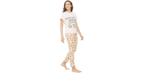 Lacely's Cookie Printed T-shirt and Pyjama for Women