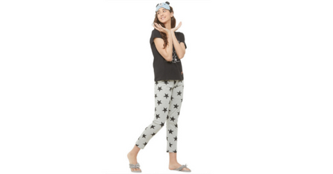 Lacely's Stars Printed T-shirts and Pyjamas for women