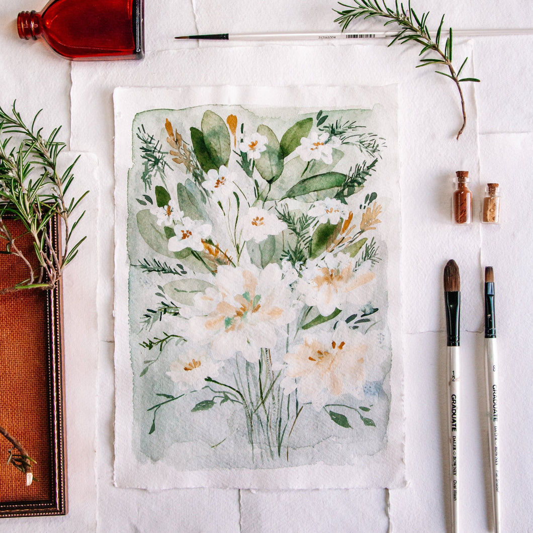 Fresh Bouquet - Original A4 watercolour painting