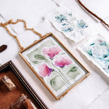 Load image into Gallery viewer, The Secret Garden - Set of 3 0riginal tiny watercolour painting