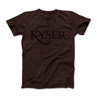 "Kyser ""Roadworn"" Logo Tee, Heather Brown"