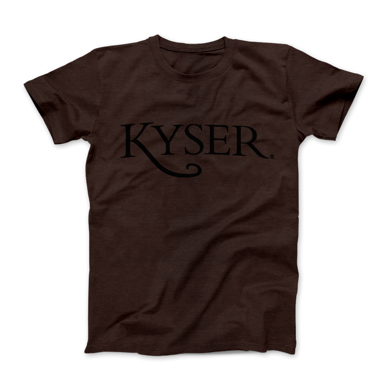 "Kyser® ""Roadworn"" Logo Tee, Heather Brown"