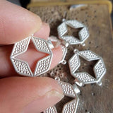 cleaning up and polishing silver castings