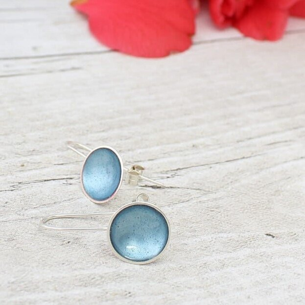 Halo Midi Enamel Drop Earrings