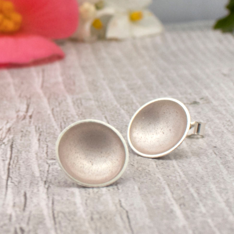 Halo Silver and Enamel Studs - Large