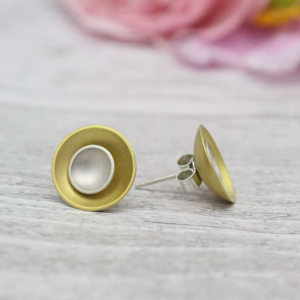 Halo Two-in-One Studs - Large - Silver and Gold