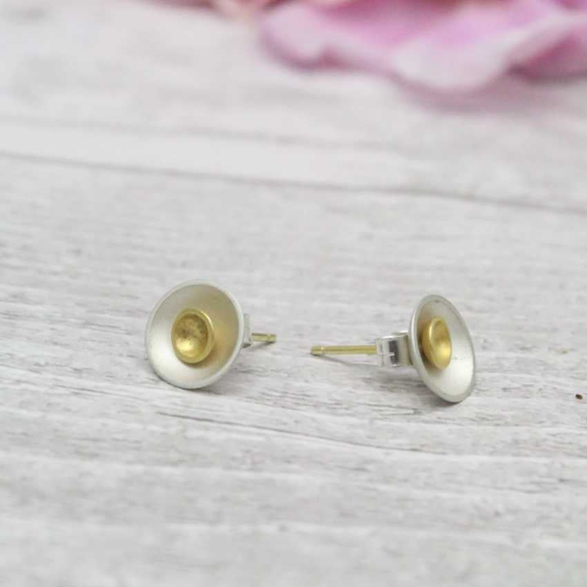 Small Halo Two-in-One Stud Earrings