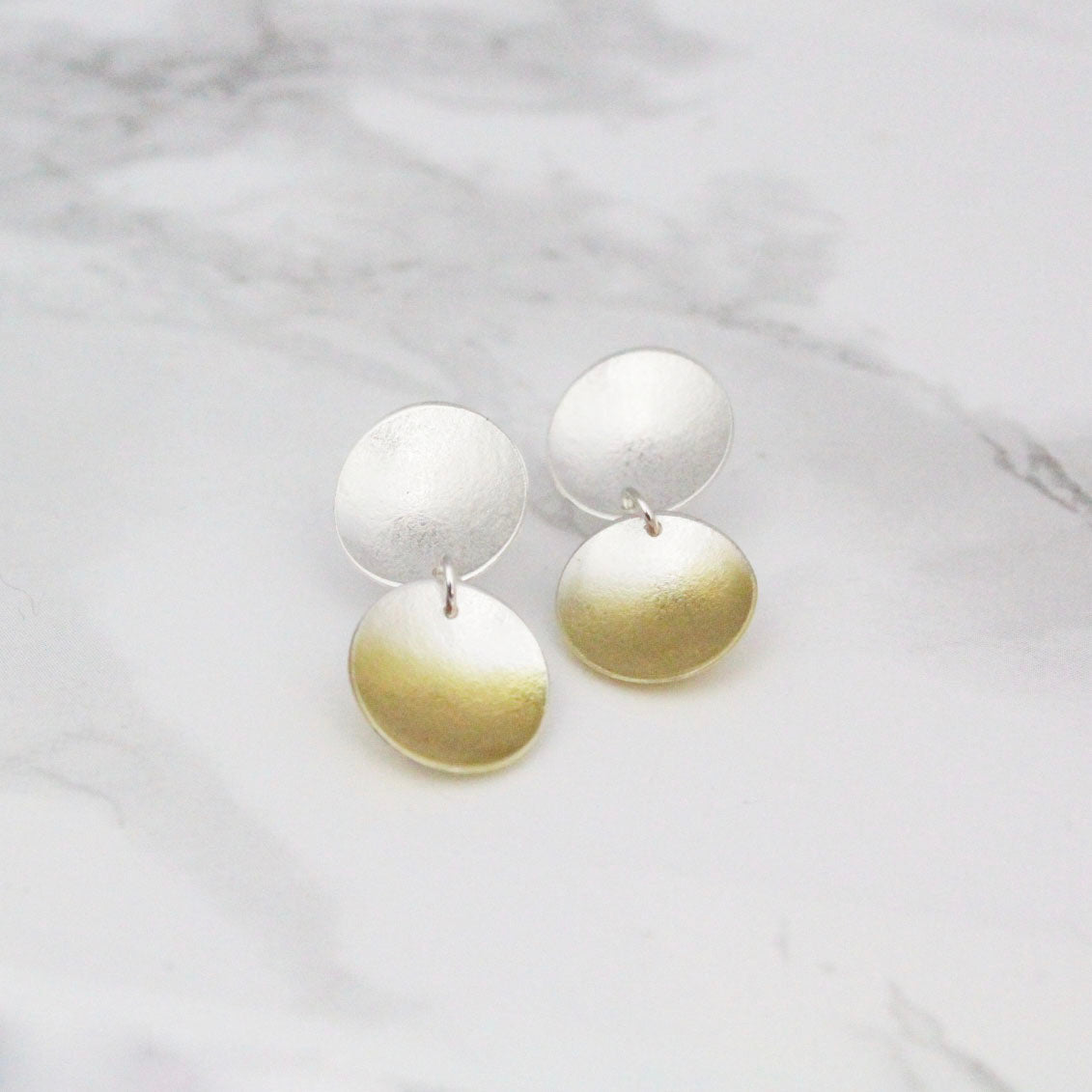 Electra Double Drop Stud Earrings
