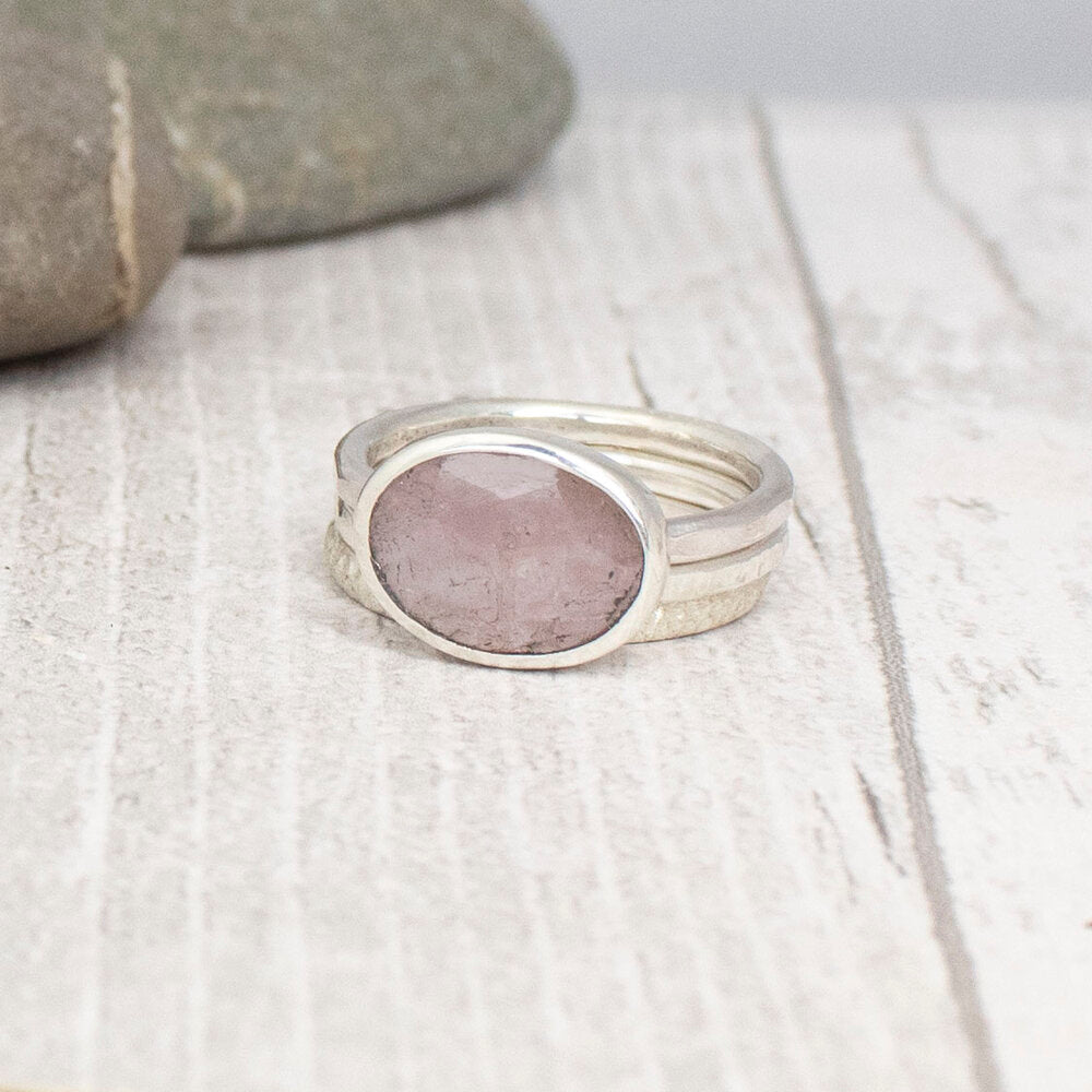 Pink Sapphire Stacking Ring