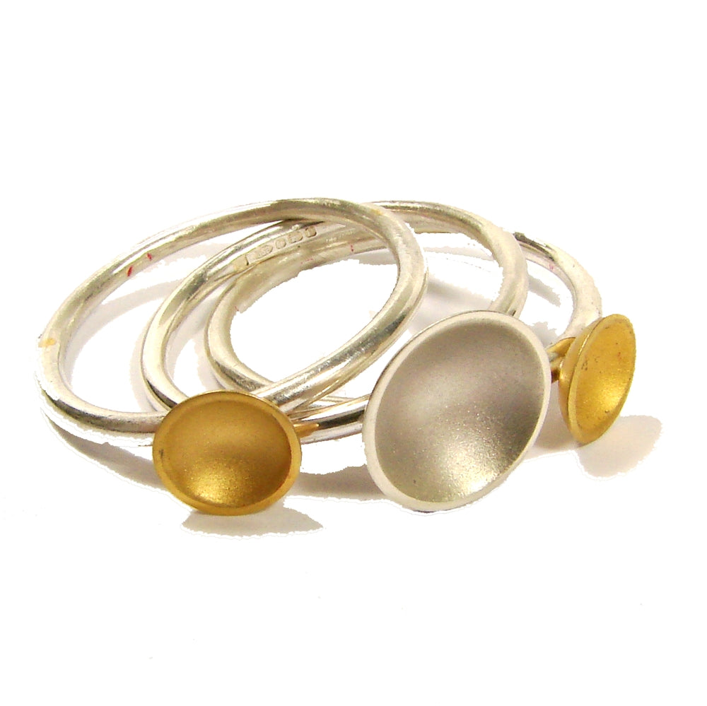 Halo Triple Stacking Ring Set (2 colour options)
