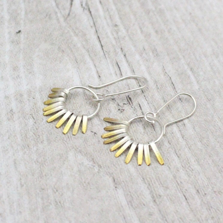 Shimmer Round Hoops
