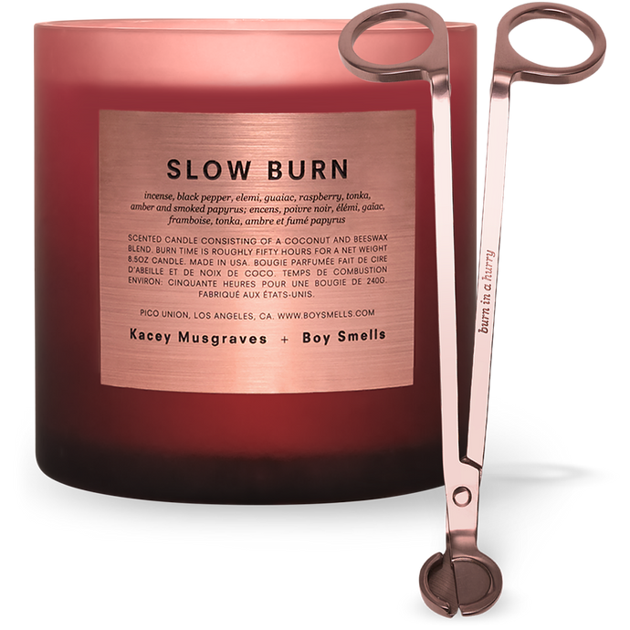 LARGE SIZE SLOW BURN CANDLE + WICK TRIMMER