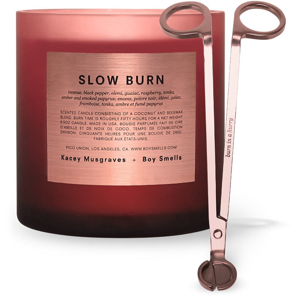 LARGE SIZE SLOW BURN CANDLE + WICK TRIMMER PRE-ORDER