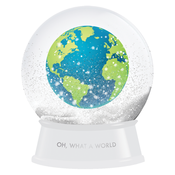 OH, WHAT A WORLD SNOW GLOBE