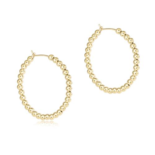 E Newton Beaded Gold Hoop