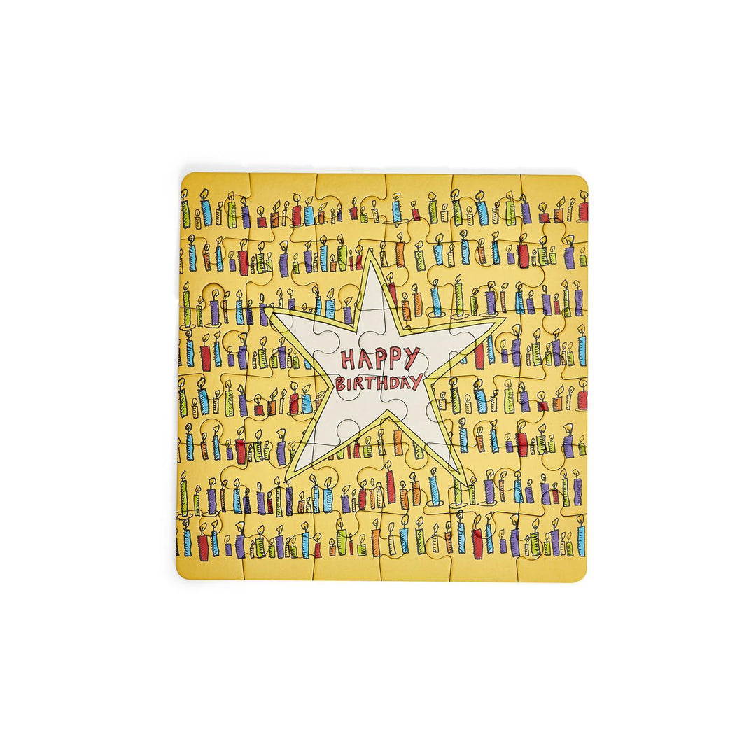 Happy Birthday Puzzle in a Can