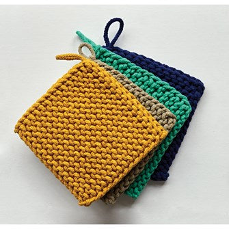 Crocheted Pot Holders - 4 colors