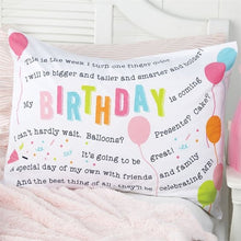 Load image into Gallery viewer, Birthday Keepsake Pillowcase