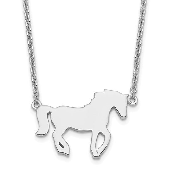 Solid sterling silver horse with 16