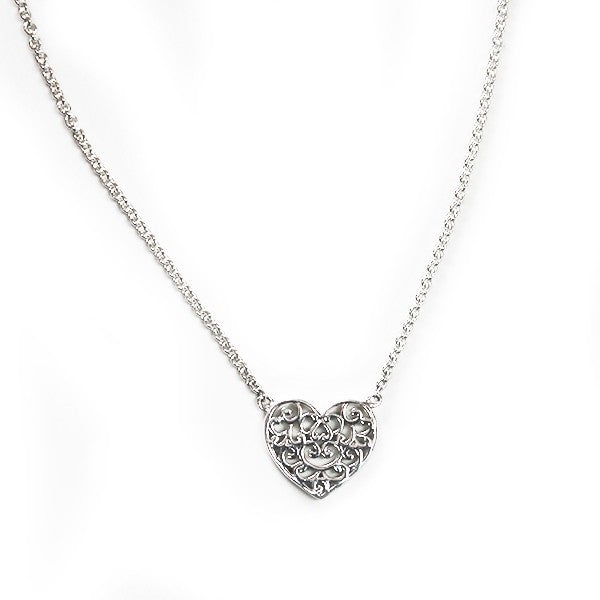 Southern Gates: Sterling silver heart necklace