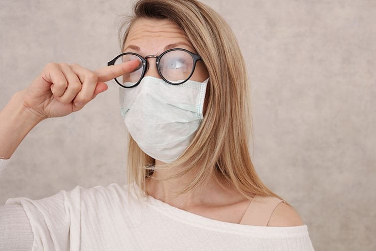Glasses fogging up Skin breaking out? We've got some tips that could help you
