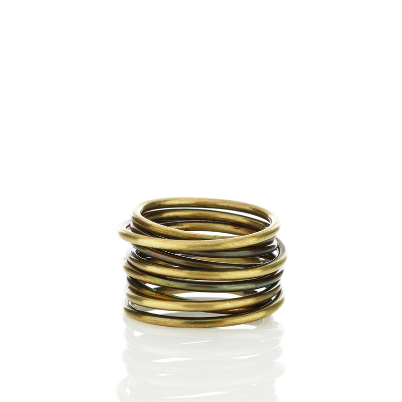 brass nest Ring  / טבעת מלופפת