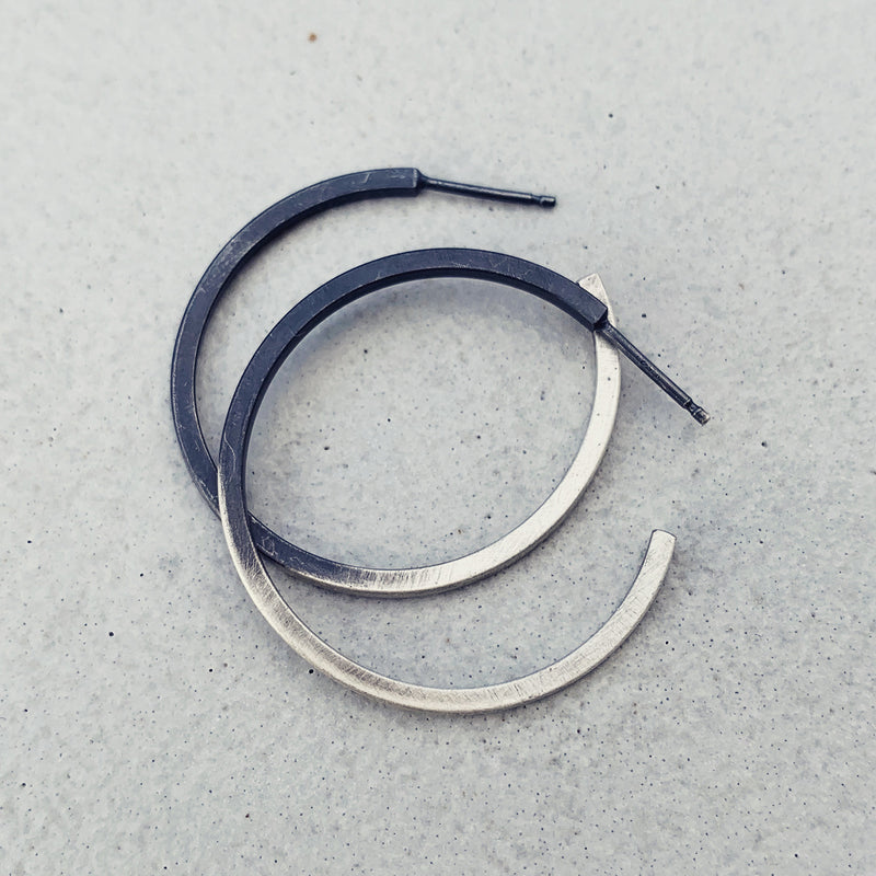 Hoop earrings Ombre' / עגילי חישוק אומברה
