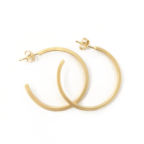 Hoop earrings Gold plated / עגילי חישוק זהב