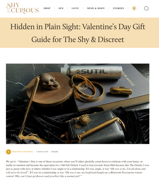 Hidden in Plain Sight: Valentine's Day Gift Guide for The Shy & Discreet