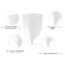 Load image into Gallery viewer, EVE menstrual cup design labels