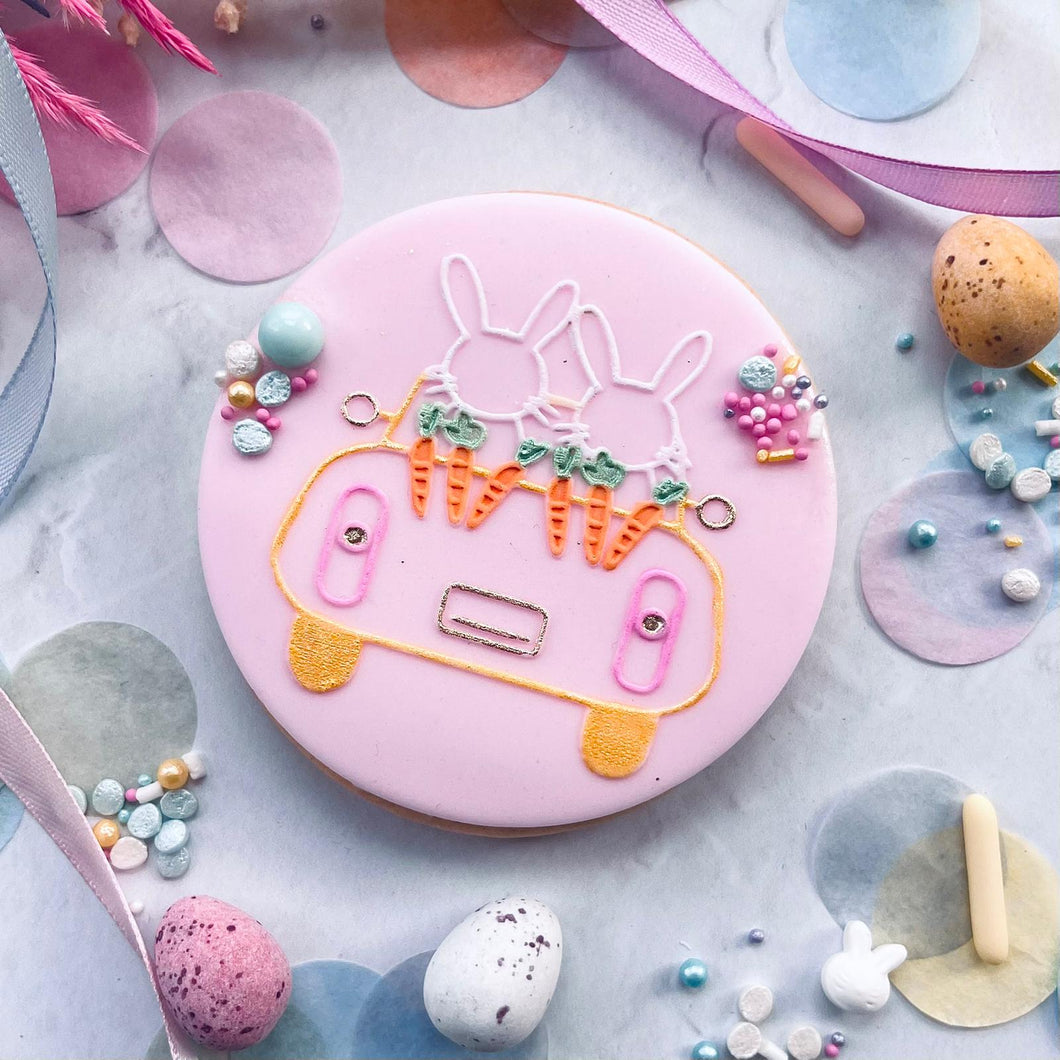 Driving Home For Easter Cookie Embosser