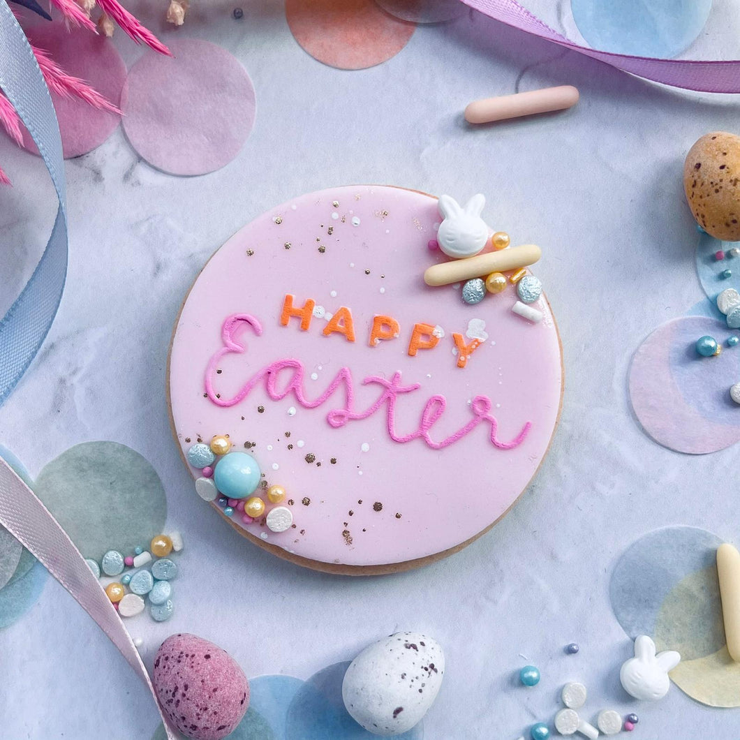 Happy Easter Text Cookie Embosser