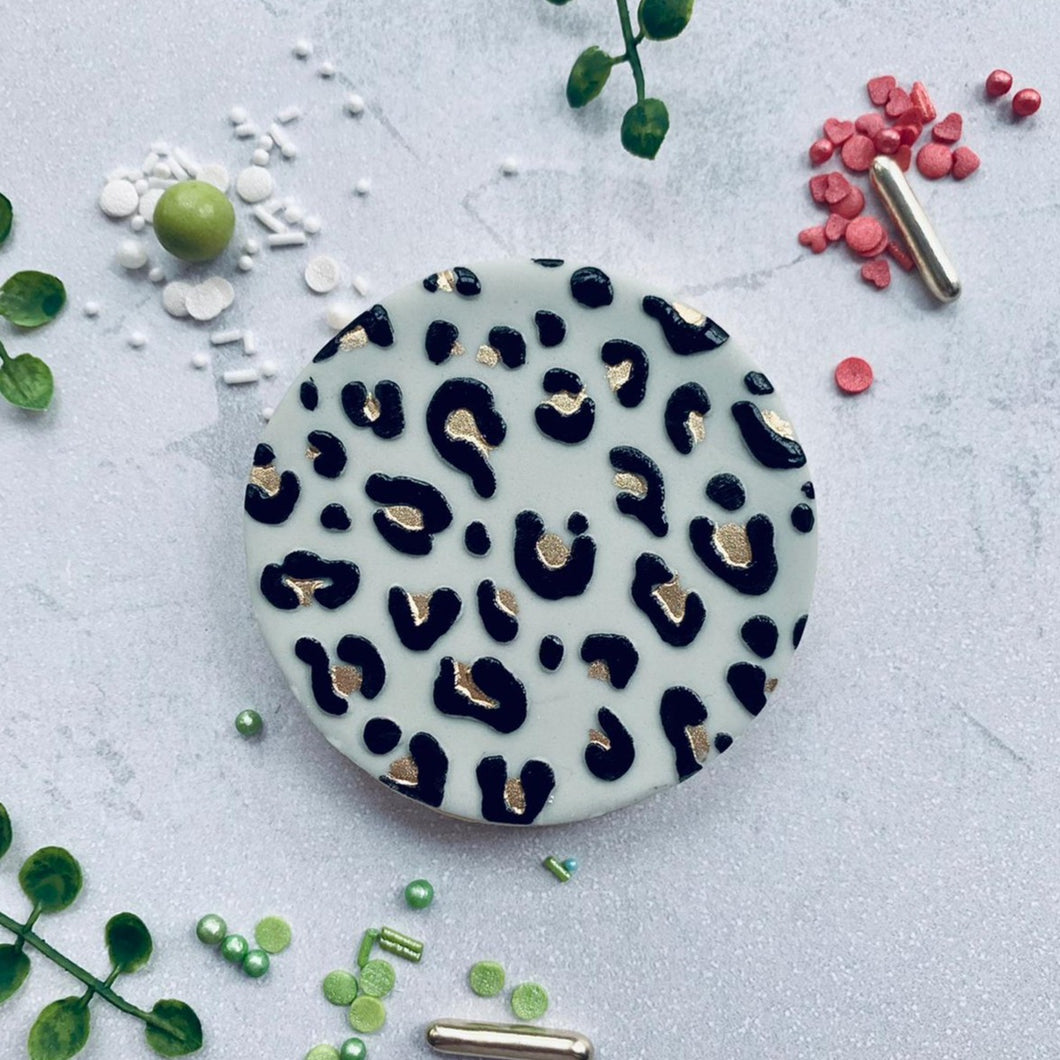 Small Leopard Print Cookie Embosser