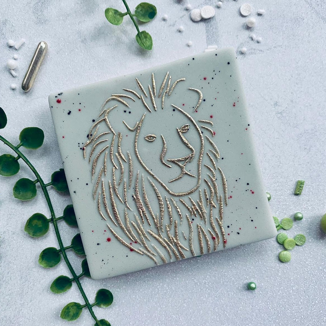 Lion Cookie Embosser