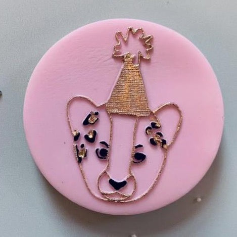 Party Leopard Cookie Embosser