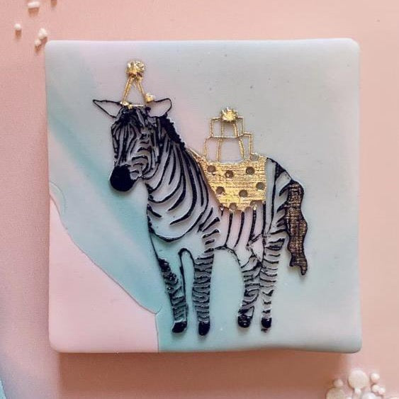 Party Zebra Cookie Embosser
