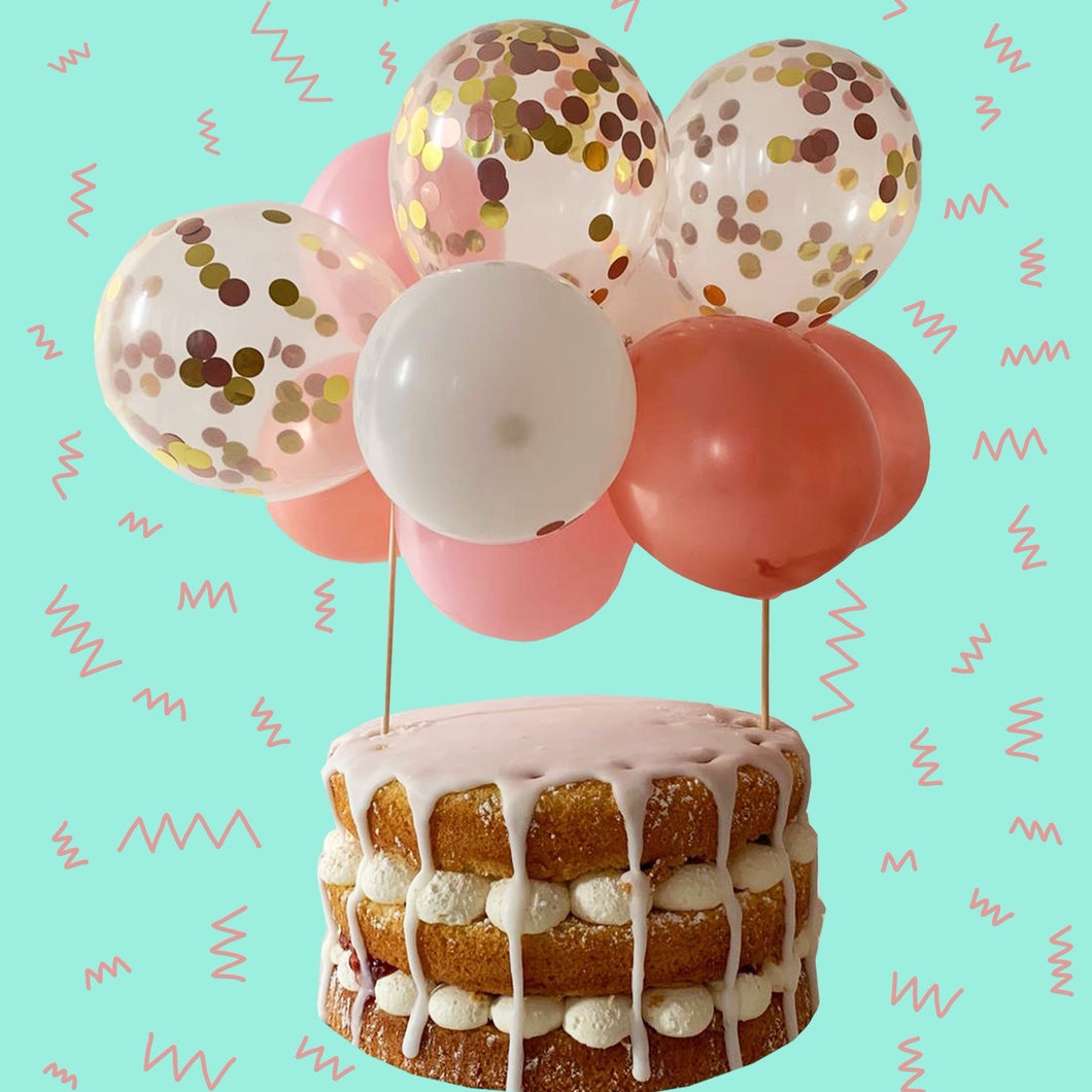 Balloon Cake Kit- Rose gold