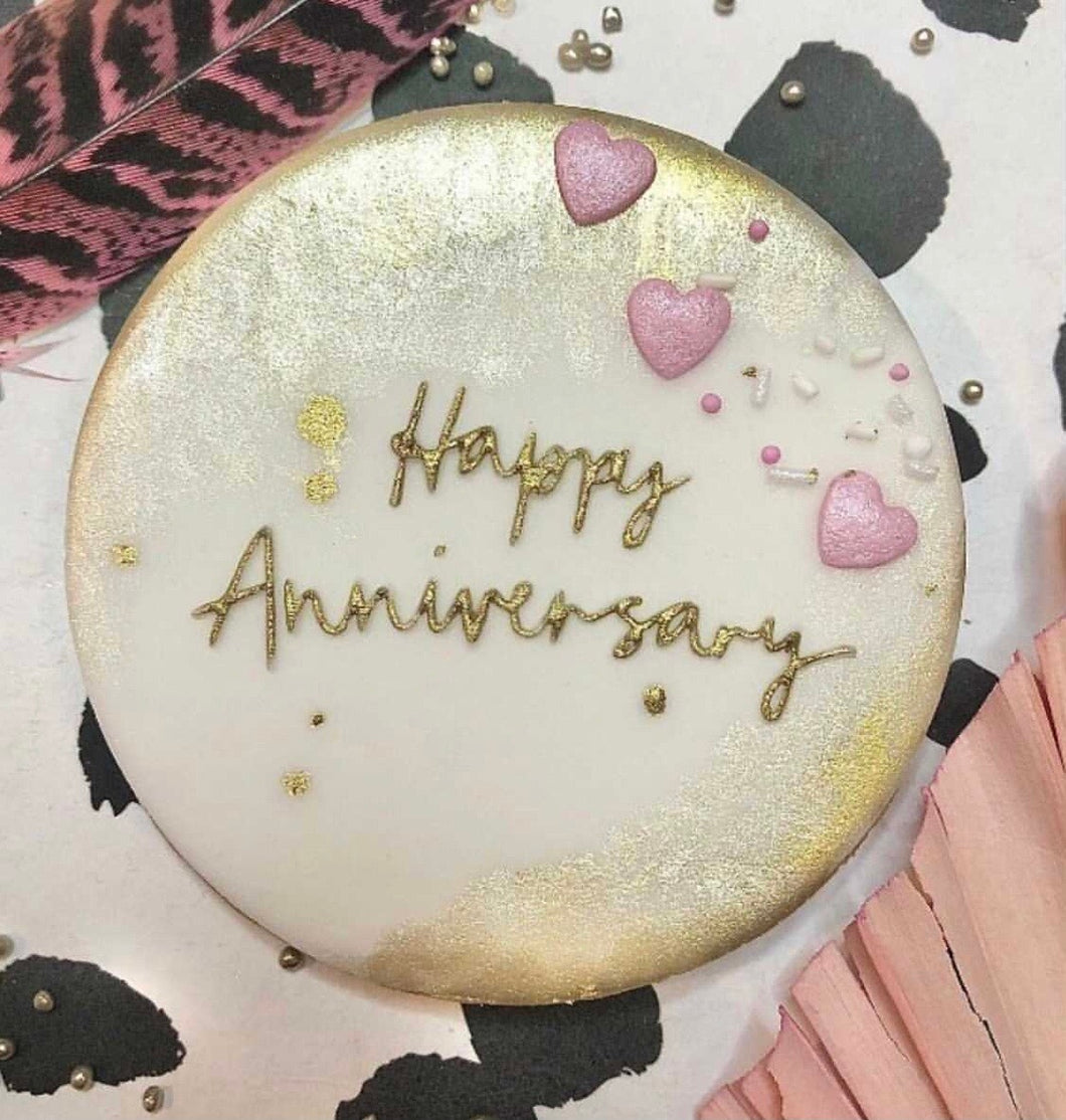 Happy Anniversary Cookie Embosser l