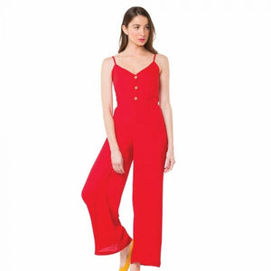Lux Red Jumpsuit
