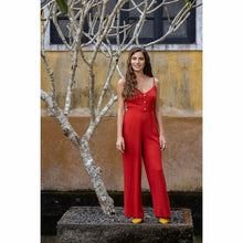 Load image into Gallery viewer, Lux Red Jumpsuit