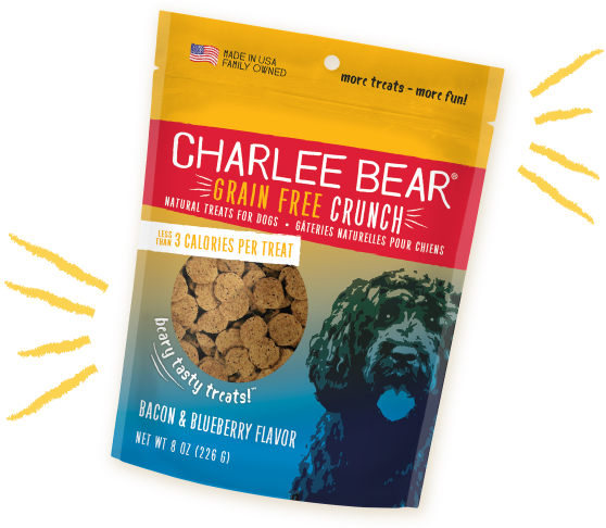 Charlee Bear - Bacon & Blueberry (Grain Free Crunch) Dog Treats