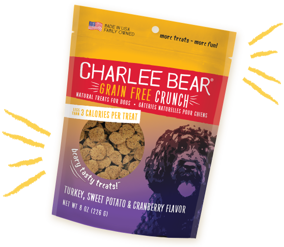 Charlee Bear - Turkey, Sweet Potato & Cranberry (Grain Free Crunch) Dog Treats