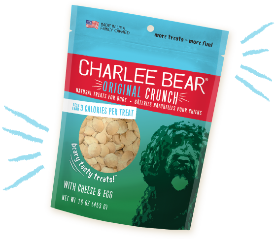 Charlee Bear - Cheese & Egg (Original Crunch) Dog Treats
