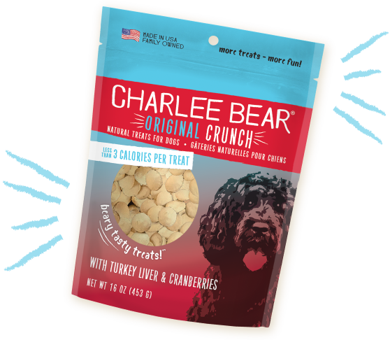 Charlee Bear - Turkey Liver & Cranberries (Original Crunch) Dog Treats