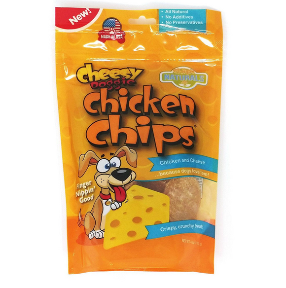 Doggie Cheesy Chicken Chips Treat (4oz Bag)